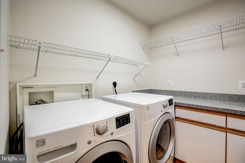 Laundry room with front-loading washer and dryer - 11012 BURYWOOD LN, RESTON