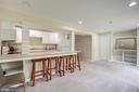 LL  kitchen w/refrigerator, microwave stove & sink - 11012 BURYWOOD LN, RESTON