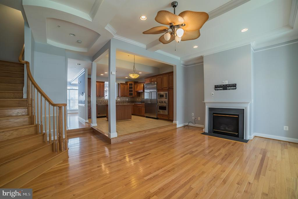 Family Room with Gas Fireplace - 214 ZINFANDEL LN, ANNAPOLIS