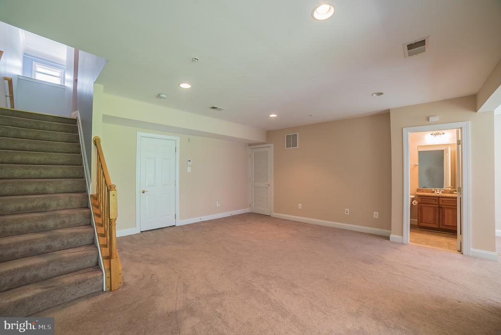 Finished Lower Level with Full Bath - 214 ZINFANDEL LN, ANNAPOLIS