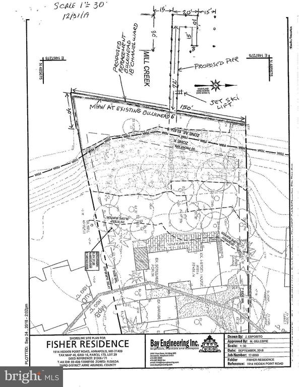 Site Plan Of Property - 1914 HIDDEN POINT RD, ANNAPOLIS
