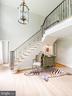 Custom iron railing.  Freshly redone floors. - 37175 ADAMS GREEN LN, MIDDLEBURG