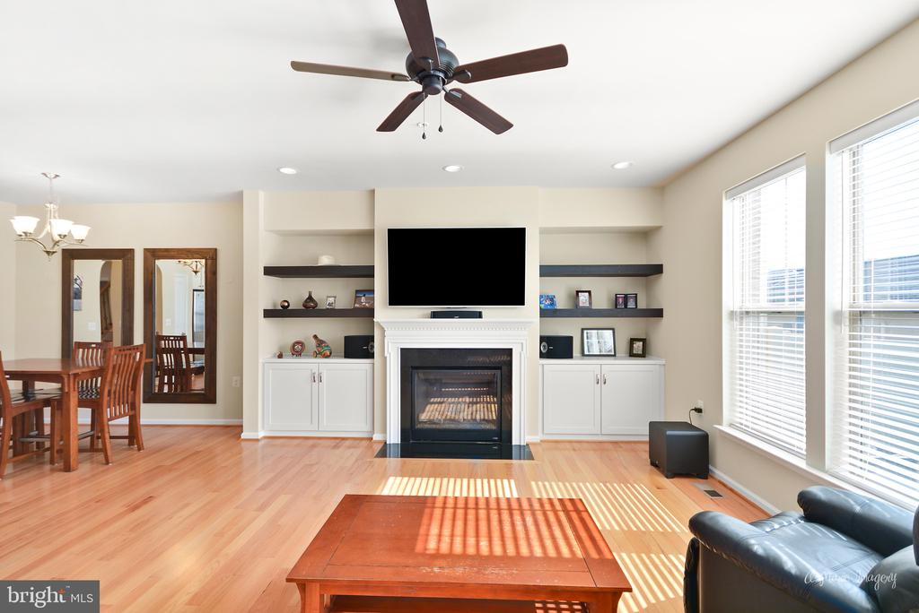 Family room with cozy gas fireplace. - 3029 STONERS FORD WAY, FREDERICK