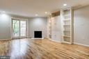 Living Room w/ Wood Burning Fireplace & Built-Ins - 3747 1/2 KANAWHA ST NW KANAWHA ST NW, WASHINGTON