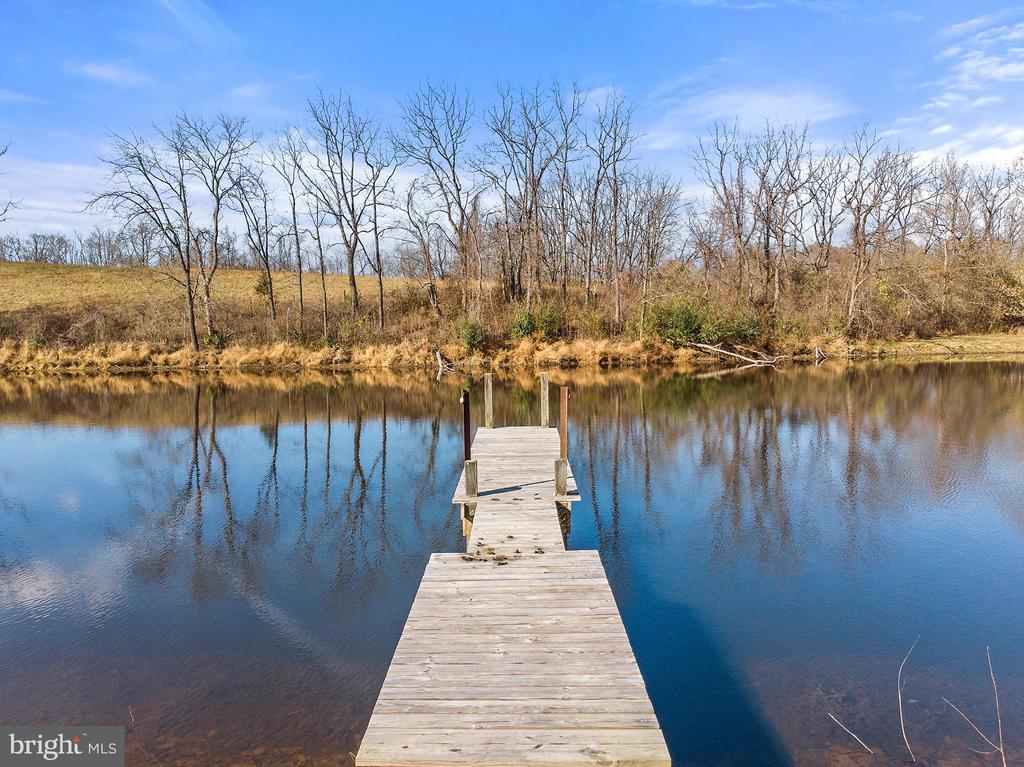 Dock for fishing and enjoying the pond - 19745 SHELBURNE GLEBE RD, PURCELLVILLE