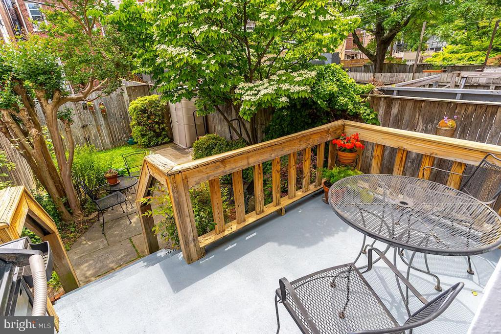 Garden deck off kitchen - 1426 SWANN ST NW, WASHINGTON