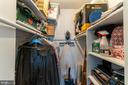 2nd bedroom walk-in closet - 1426 SWANN ST NW, WASHINGTON