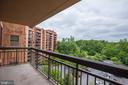Private balcony. - 2230 GEORGE C MARSHALL DR #827, FALLS CHURCH