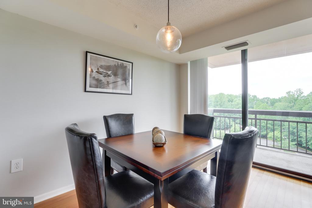 Enjoy the beautiful view from your dining table. - 2230 GEORGE C MARSHALL DR #827, FALLS CHURCH