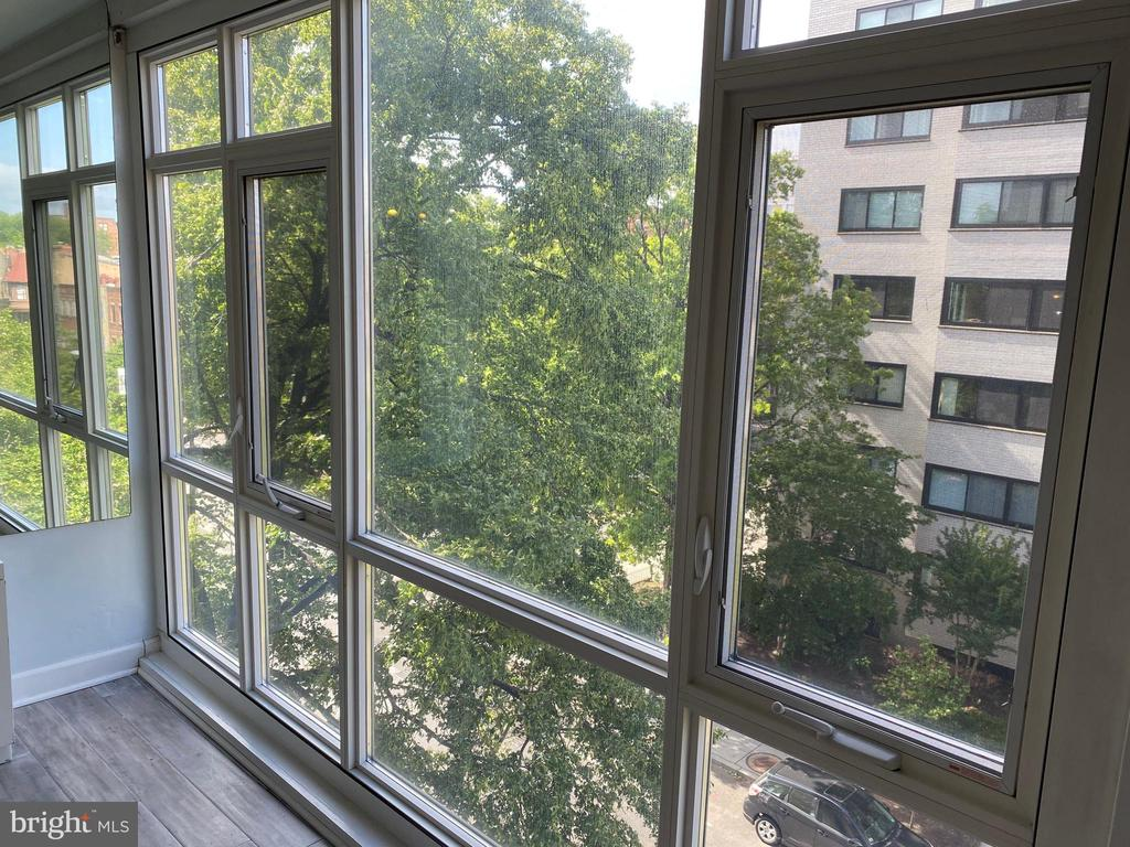 Floor to ceiling windows overlooking Q ST NW - 1545 18TH ST NW #502, WASHINGTON