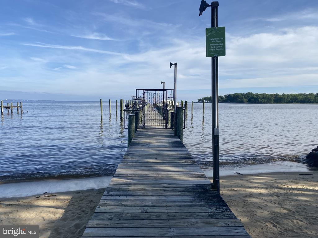 Community Pier with deep water slips - 3428 COHASSET AVE, ANNAPOLIS