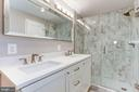 Marble MBA w/double vanity & over-sized shower - 10201 GROSVENOR PL #1701, NORTH BETHESDA