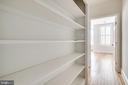 2nd floor shelving--doors avail. to close off. - 116 S PITT ST, ALEXANDRIA