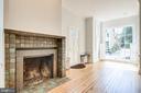 Custom wood-burning fireplace. - 116 S PITT ST, ALEXANDRIA