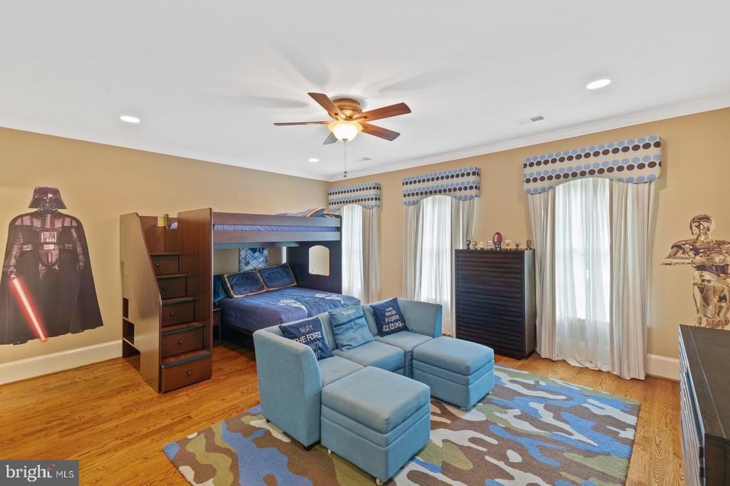 Bedroom #3 With Hardwood Floors & Ceiling Fan - 3722 HIGHLAND PL, FAIRFAX