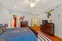 Bedroom #2 With Hardwood Floors & Ceiling Fan - 3722 HIGHLAND PL, FAIRFAX