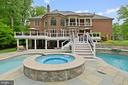 Hot Tub/Spa, Back of House & Balcony Off M/Bedroom - 3722 HIGHLAND PL, FAIRFAX