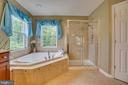 master bath soaking tub - 147 SANFORD FERRY CT, FREDERICKSBURG