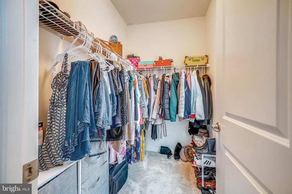 Master bedroom walk-in closet - 6464 WALCOTT LN, FREDERICK