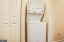 Large linen closet by washer and dryer - 10905 DEERFIELD DR, FREDERICKSBURG