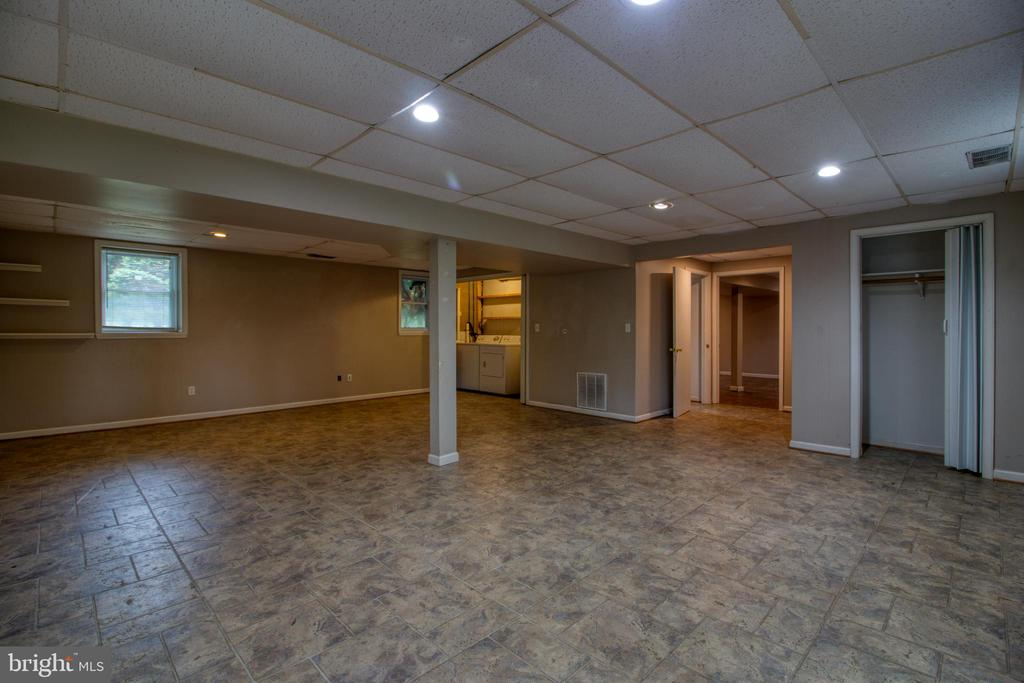 Lower level recreation room - 19355 YOUNGS CLIFF RD, STERLING