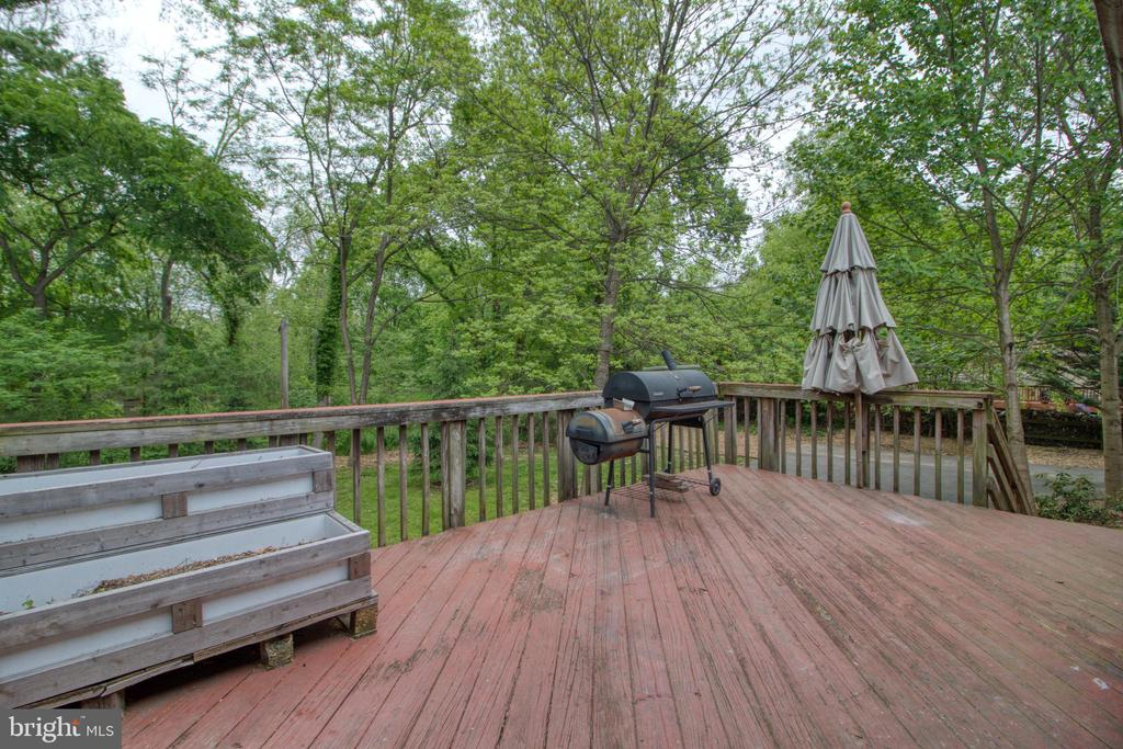 Rear deck with breathtaking views of nature! - 19355 YOUNGS CLIFF RD, STERLING