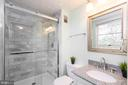 Upgraded master bath (tile shower, glass door) - 401 KOJUN CT, STERLING