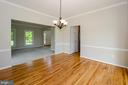 Dining Room is large with great wall space - 13652 MOUNTAIN RD, HILLSBORO