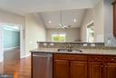 View from kitchen into family room - 20441 ISLAND WEST SQ, ASHBURN