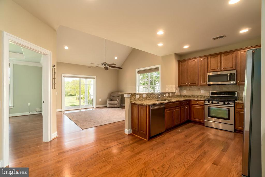 Gourmet kitchen opens to family room - 20441 ISLAND WEST SQ, ASHBURN