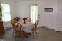 Dinette in very large kitchen - 7738 TALBOT RUN RD, MOUNT AIRY