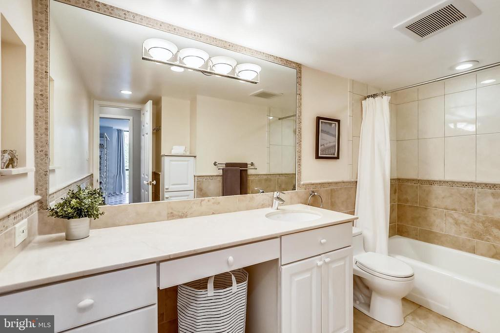 Updated master bathroom w/ great counterspace - 4620 N PARK AVE #608W, CHEVY CHASE