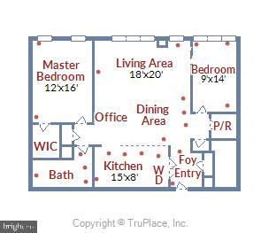 Floor plan - 4620 N PARK AVE #608W, CHEVY CHASE