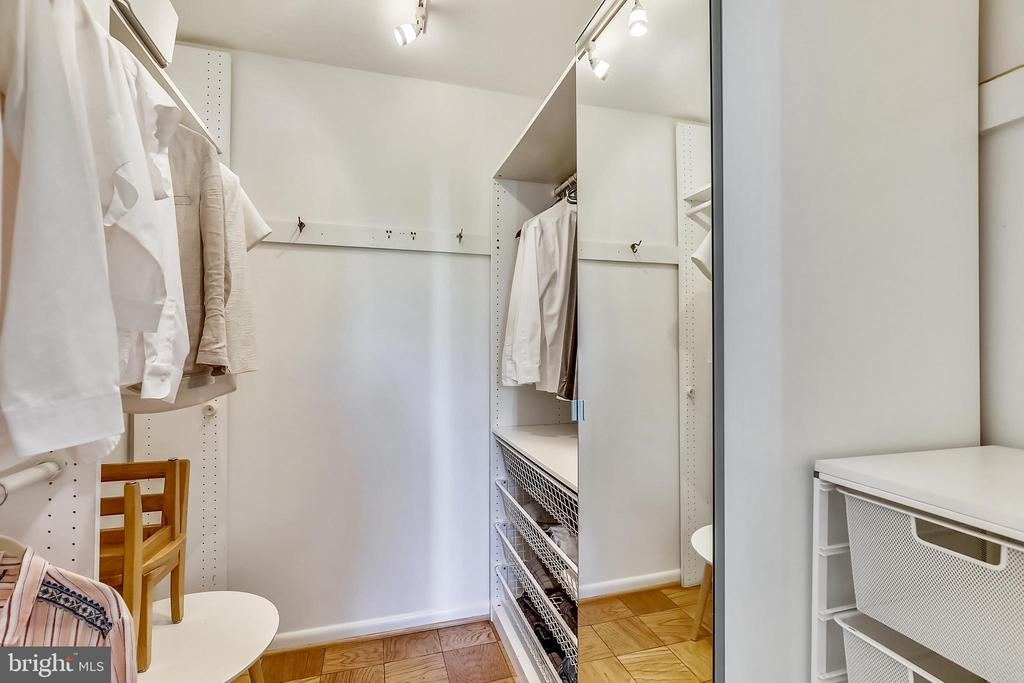 Fantastic walk-in closet w/ built-ins - 4620 N PARK AVE #608W, CHEVY CHASE