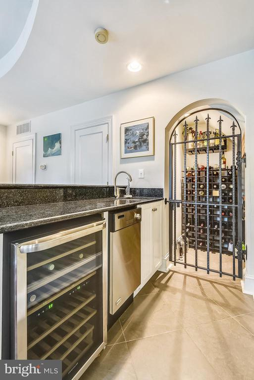 Wine fridge and dishwasher in rec room bar - 1002 MOSS HAVEN CT, ANNAPOLIS
