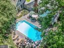 Aerial shot of the pool and back of the house - 1002 MOSS HAVEN CT, ANNAPOLIS