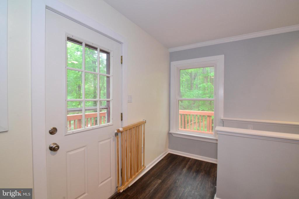 Entrance to deck and basement off of Kitchen - 234 PINE CREST LN, BLUEMONT