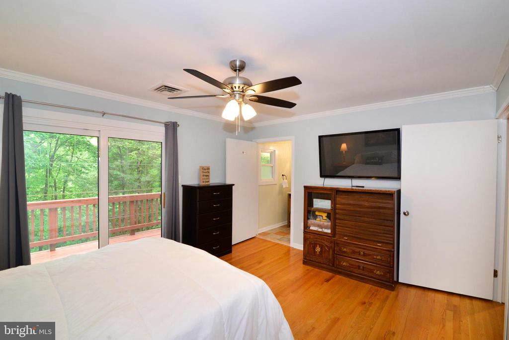Master Bedroom view to backyard - 234 PINE CREST LN, BLUEMONT