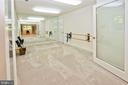 Double glass doors lead to the exercise space - 11331 BRIGHT POND LN, RESTON