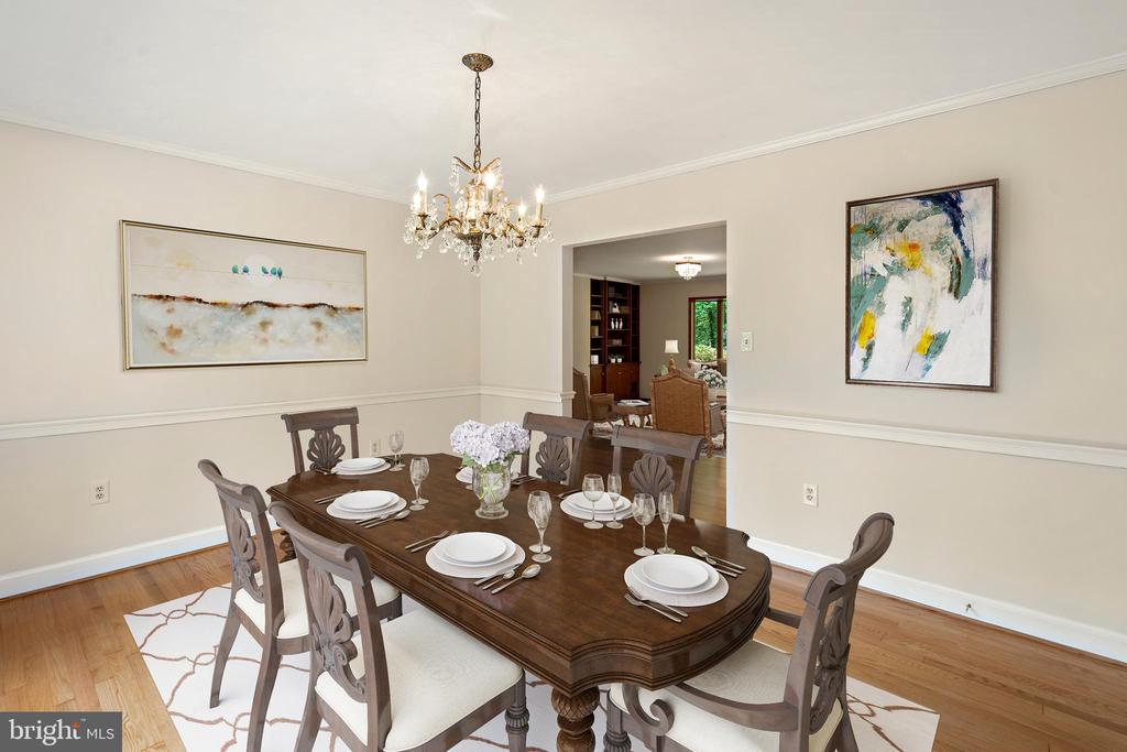 Dining room Virtually Staged - 7413 SHENANDOAH AVE, ANNANDALE