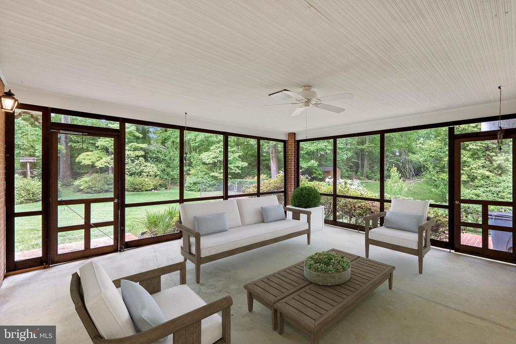 Screened-In Porch Virtually Staged - 7413 SHENANDOAH AVE, ANNANDALE