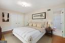 Master bedroom Virtually Staged - 7413 SHENANDOAH AVE, ANNANDALE