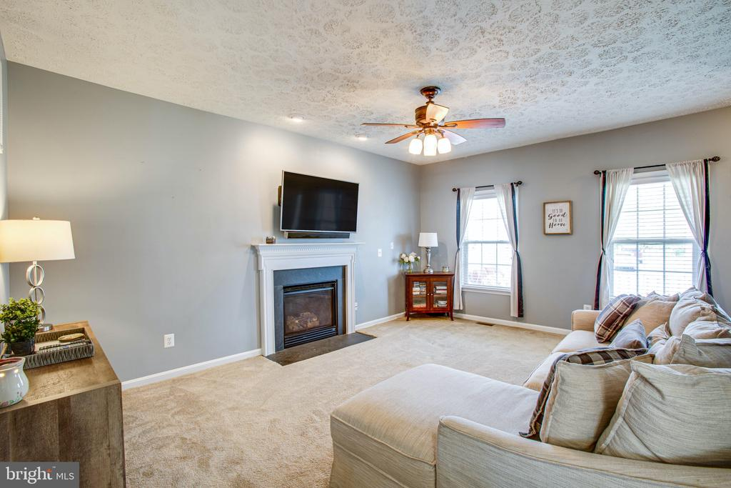 Gas Fireplace w/ Mantel for Seasonal Displays - 35335 RIVER BEND DR, LOCUST GROVE