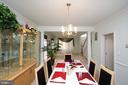 Dining Room - 25782 AYTHORNE LN, CHANTILLY