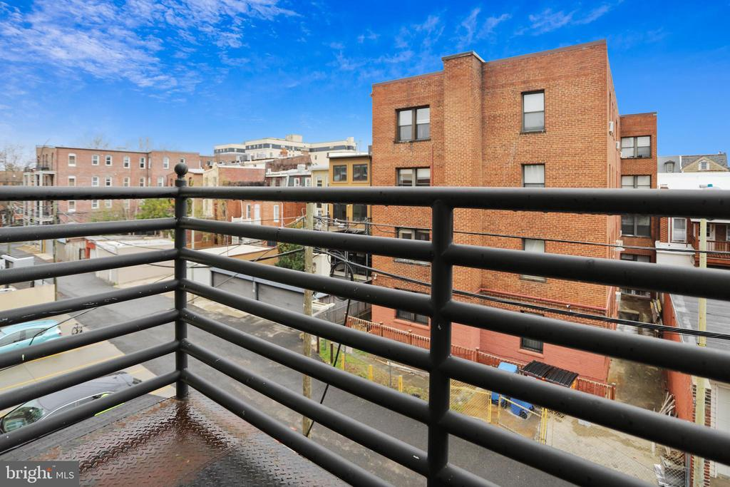 Beautiful balcony views- perfect for warm evenings - 1321 EUCLID ST NW #302, WASHINGTON