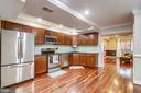 Open kitchen - stainless steel appliances - 1321 EUCLID ST NW #302, WASHINGTON