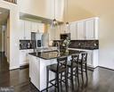 Modern kitchen w/ large center island custom tile - 3428 COHASSET AVE, ANNAPOLIS