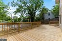 Backyard Deck: Prefect for entertaining! - 2705 HAMLIN ST NE, WASHINGTON