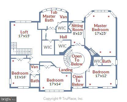 Upper Level Floor Plan - 43554 FIRESTONE PL, LEESBURG