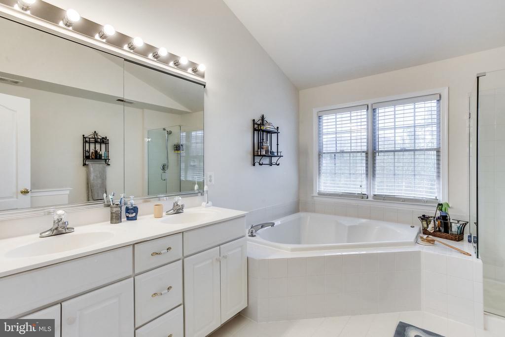 Dual sink vanity and soaking tub - 22766 OATLANDS GROVE PL, ASHBURN
